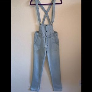 TSUBI overalls light wash 29 cotton stretch